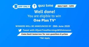 Amazon Quiz 28th June 2020