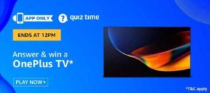 Answer & win Oneplus TV