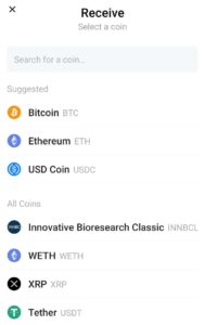 Coinbase wallet receive crypto