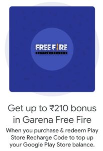 Free Fire Google pay Offer