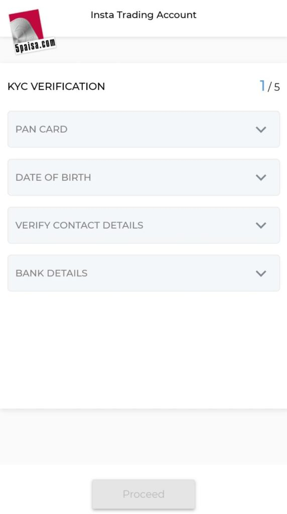 How to create 5paisa account