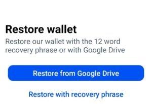 Restore Coinbase Wallet