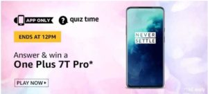 Amazon Quiz Answer