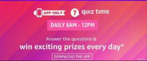 Amazon Quiz Answers 17 August