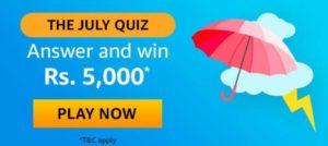 Amazon The July Quiz