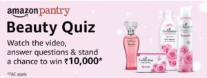 Amazon Pentry Beauty Quiz