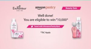 Amazon Pentry Beauty Quiz Answers