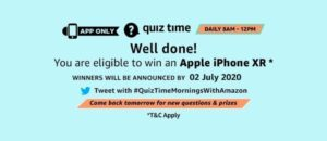 Amazon Quiz 1st July