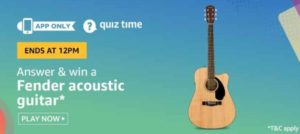 Amazon Quiz 4th July