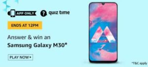 Amazon Quiz 5th July