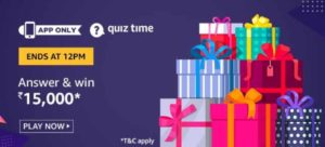 Amazon Quiz 6th July