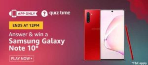 Amazon Quiz Answers Today 22 July