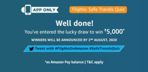 Amazon Safe Travels Quiz