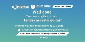 Answer & Win Fender Acoustic Guiter Quiz