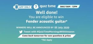 Amazon Quiz 5th July 2020