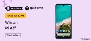 Answer & win Mi A3