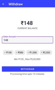 CoinSwitch INR Withdraw