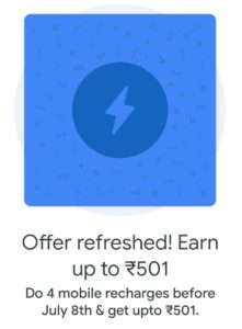 Do 4 mobile recharges On Google Pay