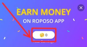 Earn Free paytm cash On Roposo