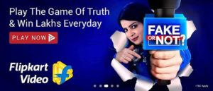 Flipkart Fake Or Not Answers 5 August