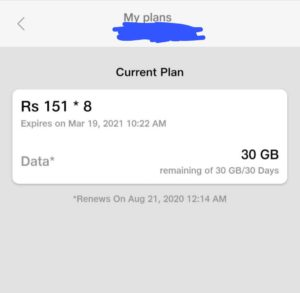 Free Jio Recharge Proof