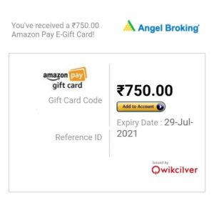 How To Withdraw Amazon GV From Angel Broking