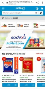 JioMart Website Go To Product Page