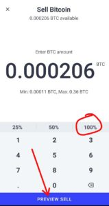 Sell BTC On CoinSwitch