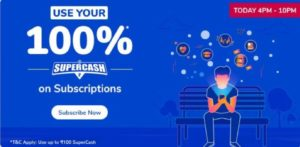 Use 100% SuperCash on Subscription
