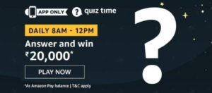 Amazon Quiz Answers 3 August 2020