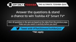 Amazon Toshiba Quiz Answers