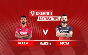 Dream11 Team Prediction RCB Vs KXIP