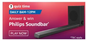 amazon Quiz Philips Soundbar