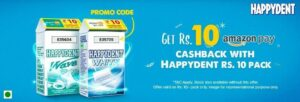 Amazon Pay Happydent Offer