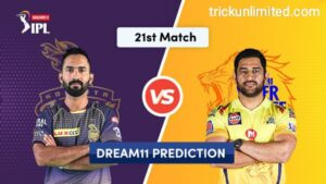Dream11 Team Prediction KKR Vs CSK