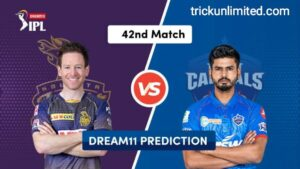Dream11 Team Prediction KKR vs DC