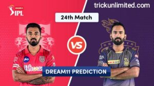Dream11 Team Prediction KXIP Vs KKR