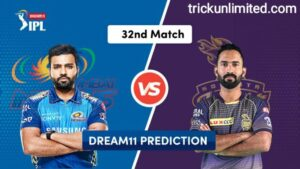 Dream11 Team Prediction MI Vs KKR