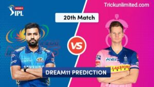 Dream11 Team Prediction MI Vs RR