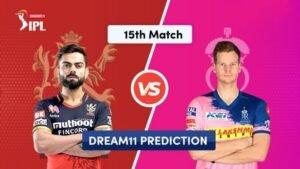 Dream11 Team Prediction RCB Vs RR