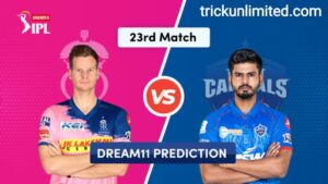 Dream11 Team Prediction RR Vs DC