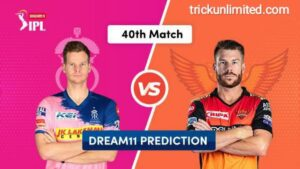 Dream11 Team Prediction RR vs SRH