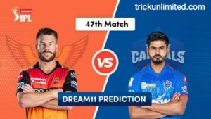 Dream11 Team Prediction SRH vs DC