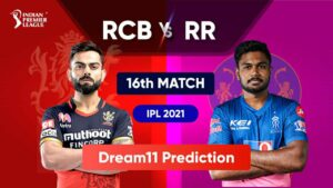 Dream11 Team Prediction RCB Vs RR