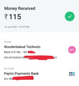Bitbns Pay Payment Proof