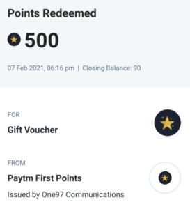 Convert Paytm First Points To PayTM Cash