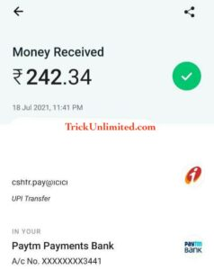 Rizzle App Payment Proof